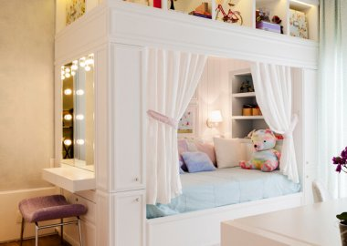 Add a Stylish Vanity Table to Your Little Girl's Room fi