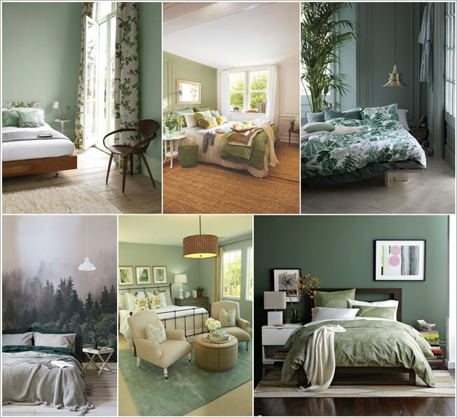 Grey Bedroom Ideas With Calm Situation: Calm And Chic Green Bedroom Inspirations