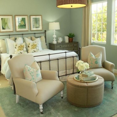 Calm and Chic Green Bedroom Inspirations fi