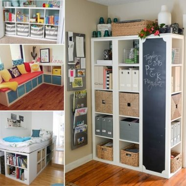 Clever and Cool IKEA Kallax Shelf Hacks fi