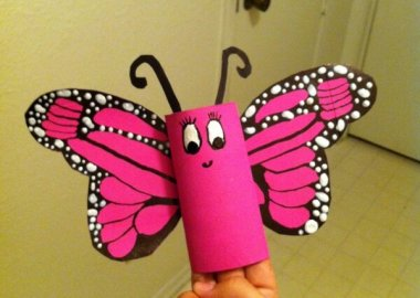 Cute Paper Roll Butterfly Craft Idea fi