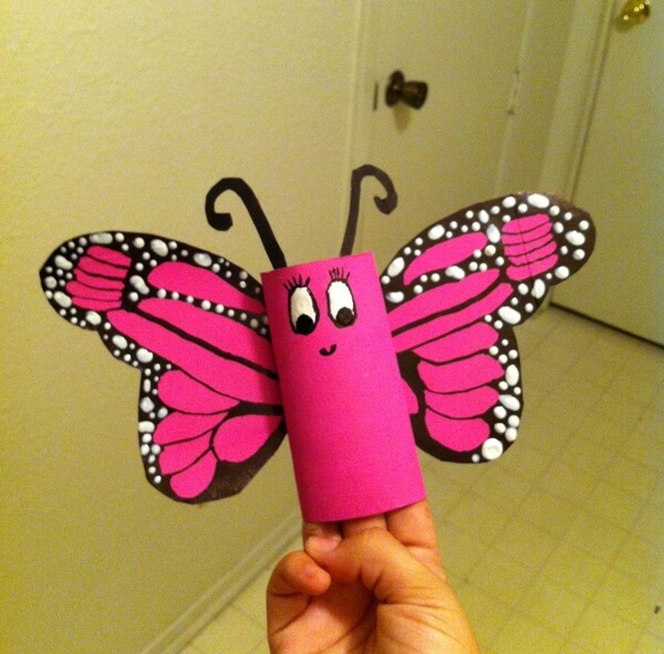 paper butterfly craft ideas paper roll butterfly craft idea 5072