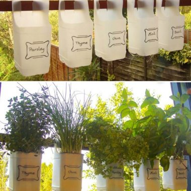Decorate Your Home with Recycled Plastic Milk Bottles fi