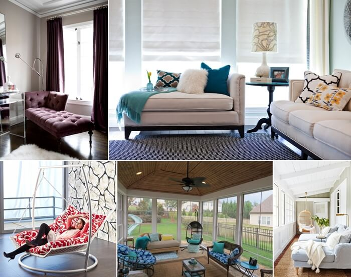 Decorating With Chaise Lounge In Living Room