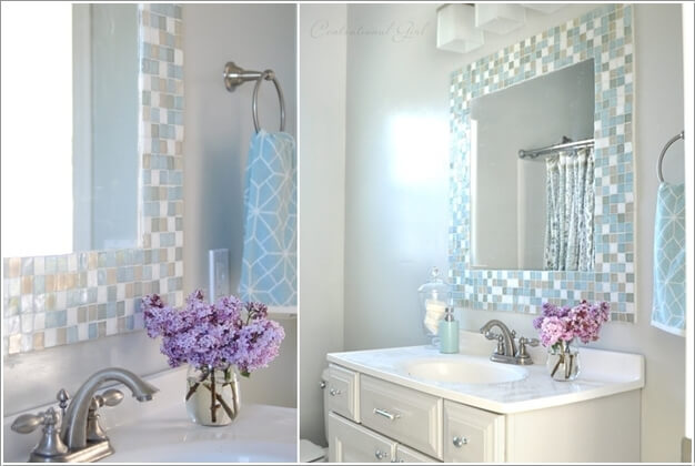 How To Make A Frame For A Bathroom Mirror