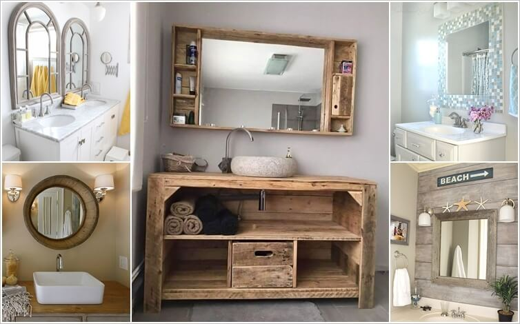 Bathroom Mirror Ideas Diy how wonderful are these diy bathroom mirror ideas!