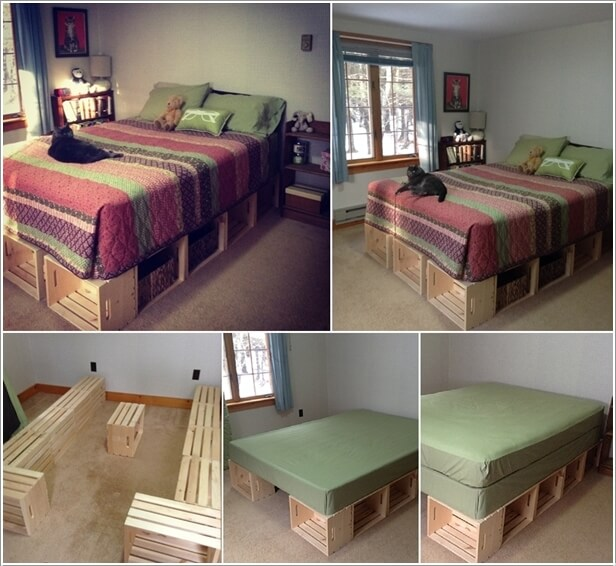 wood crate furniture diy. DIY A Wood Crate Platform Bed Furniture Diy