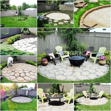 This Fire Pit Patio is a Perfect Addition to Your Backyard fi
