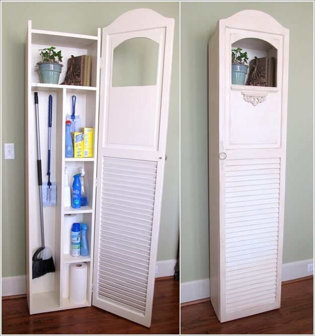 Create A Narrow Yet Practical Utility Cabinet With A Shutter And Wood
