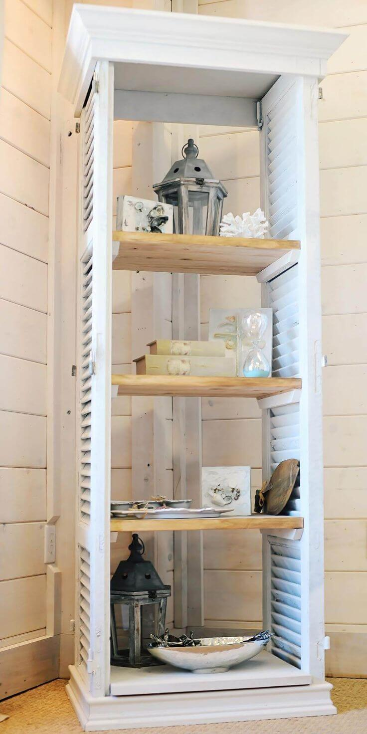 10 Clever Ideas To Build Furniture With Old Shutters
