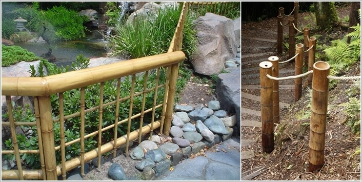 Make A Fence With Bamboo For A Tropical Or A Japanese Garden Like Feel