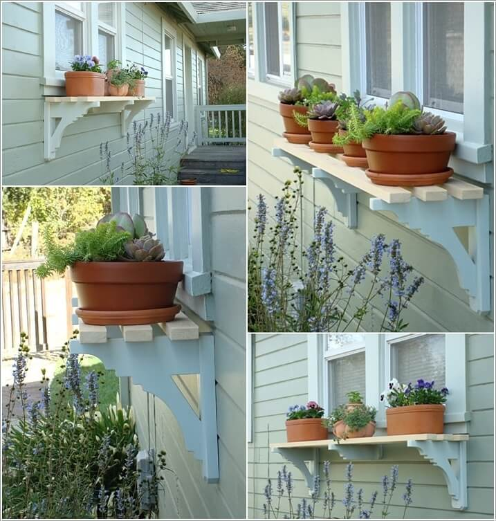 10 Wonderful Diy Outdoor Planter Shelf Ideas