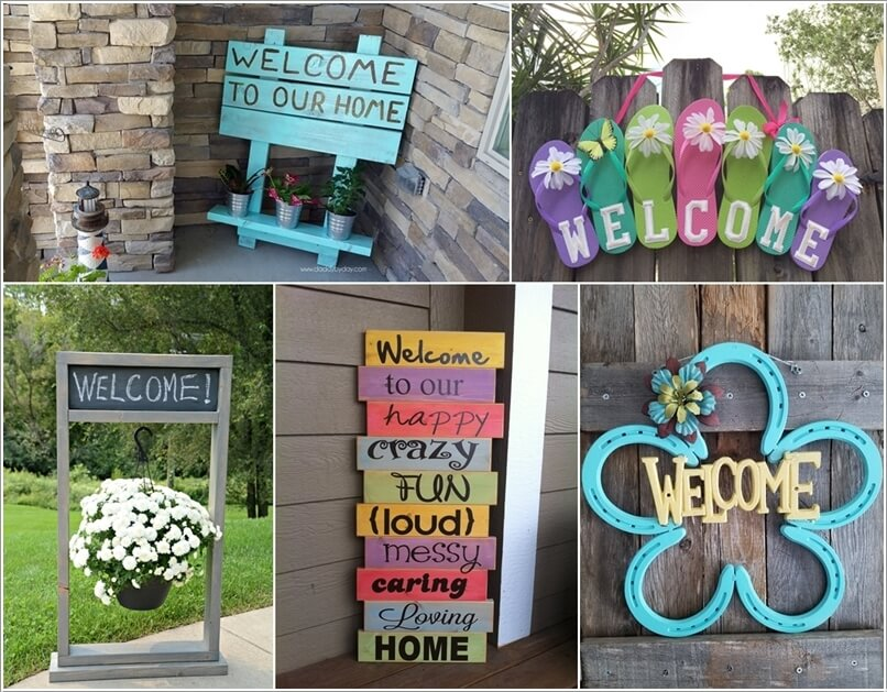 welcome signs diy - 806×629