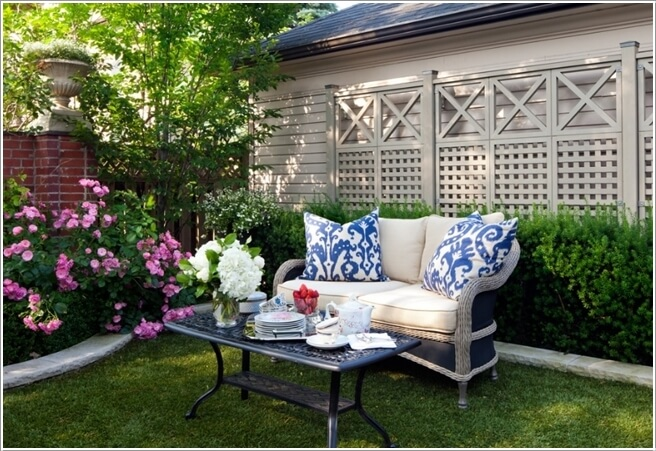 Provide A Backdrop For Your Garden Seating Area