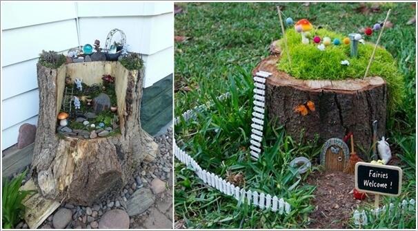 Gnome In Garden: 15 Magical Recycled Fairy Garden Ideas