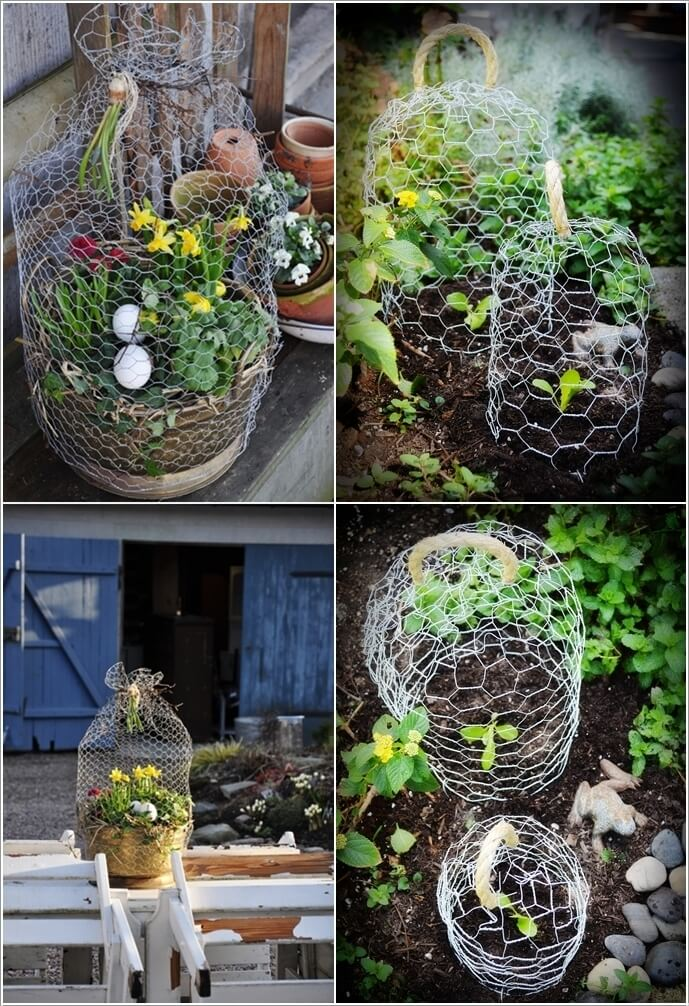 15 ways to decorate your home with chicken wire - How to decorate your home ...