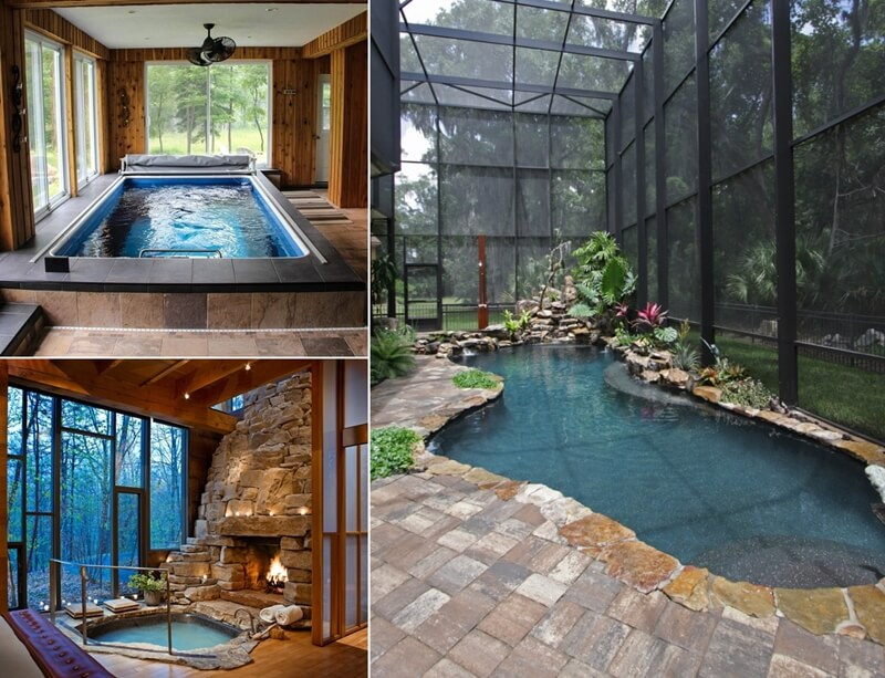 Amazing small indoor pool ideas for Indoor swimming pool ideas