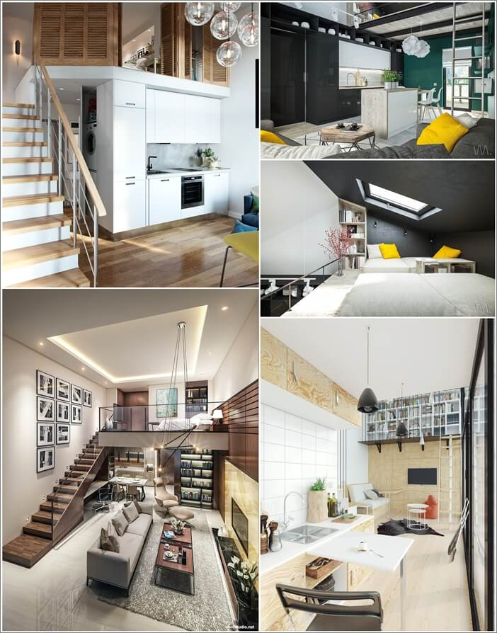 Clever Small Home Designs with Lofts