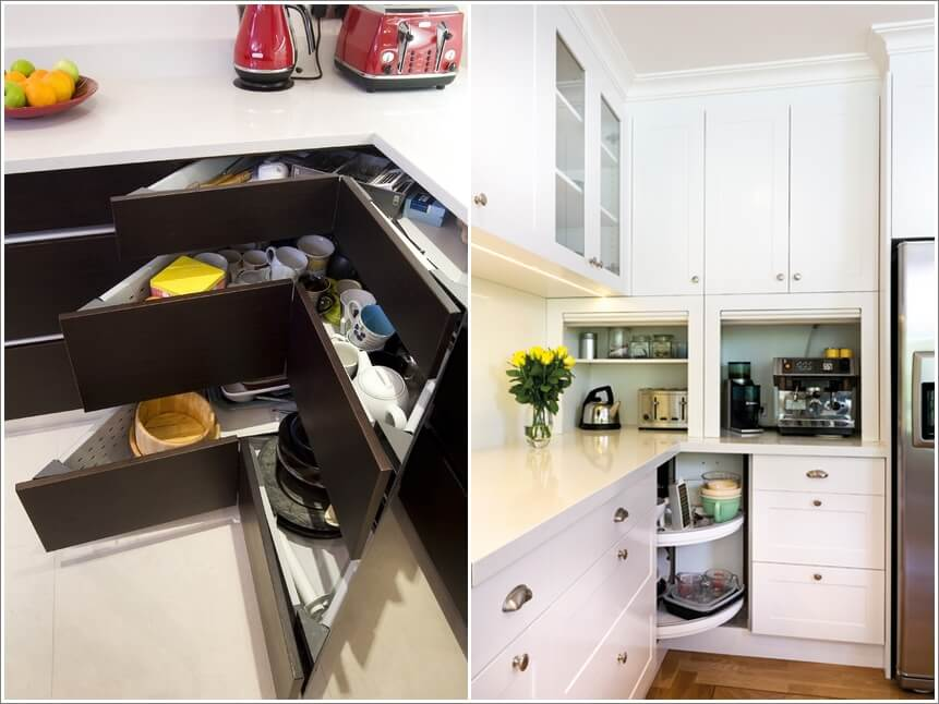 Clever Storage Ideas For Corner Kitchen Cabinets