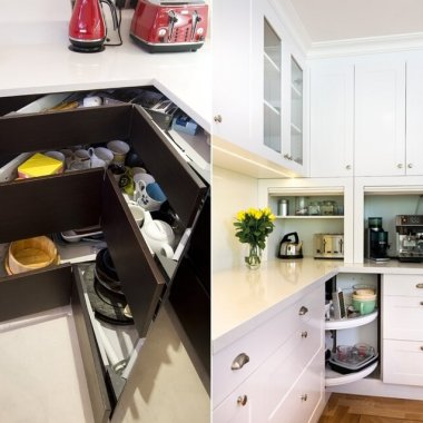 Clever Storage Ideas for Corner Kitchen Cabinets fi