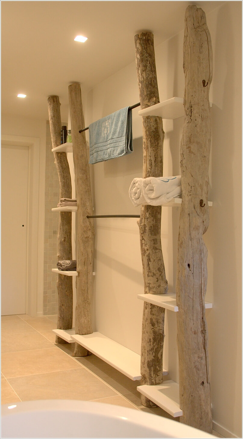 Create wall storage in your bathroom with diy shelves for Garderoben set holz