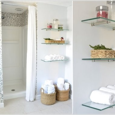 Create Wall Storage in Your Bathroom with DIY Shelves 10