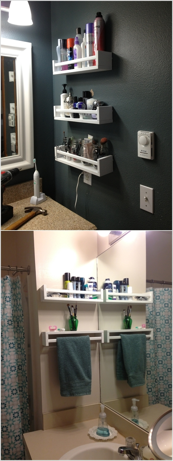 Create Wall Storage In Your Bathroom With Diy Shelves