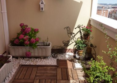 Decorate Your Balcony with Wood fi