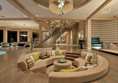 Stunning Sunken Living Room Designs fi