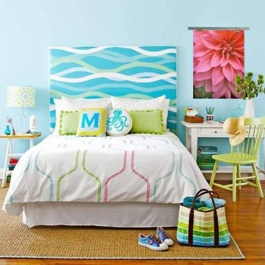 These DIY Coastal Fabric Headboards are a Pure Bliss fi
