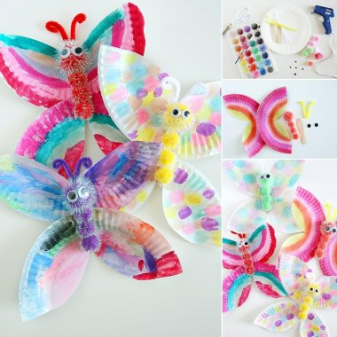 These Paper Plate Butterflies are Simply Adorable fi