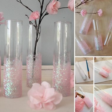 These Pink Glitter Vases are So Charming fi