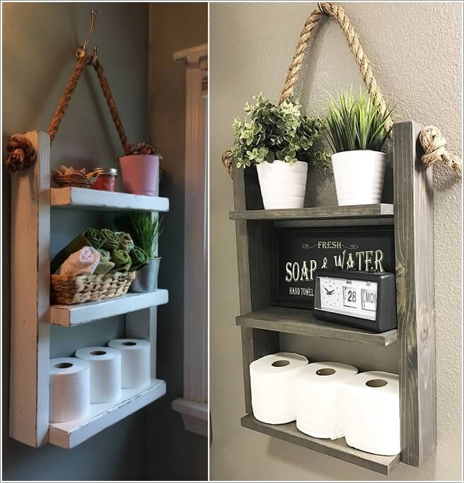 Pictures of bathroom shelves