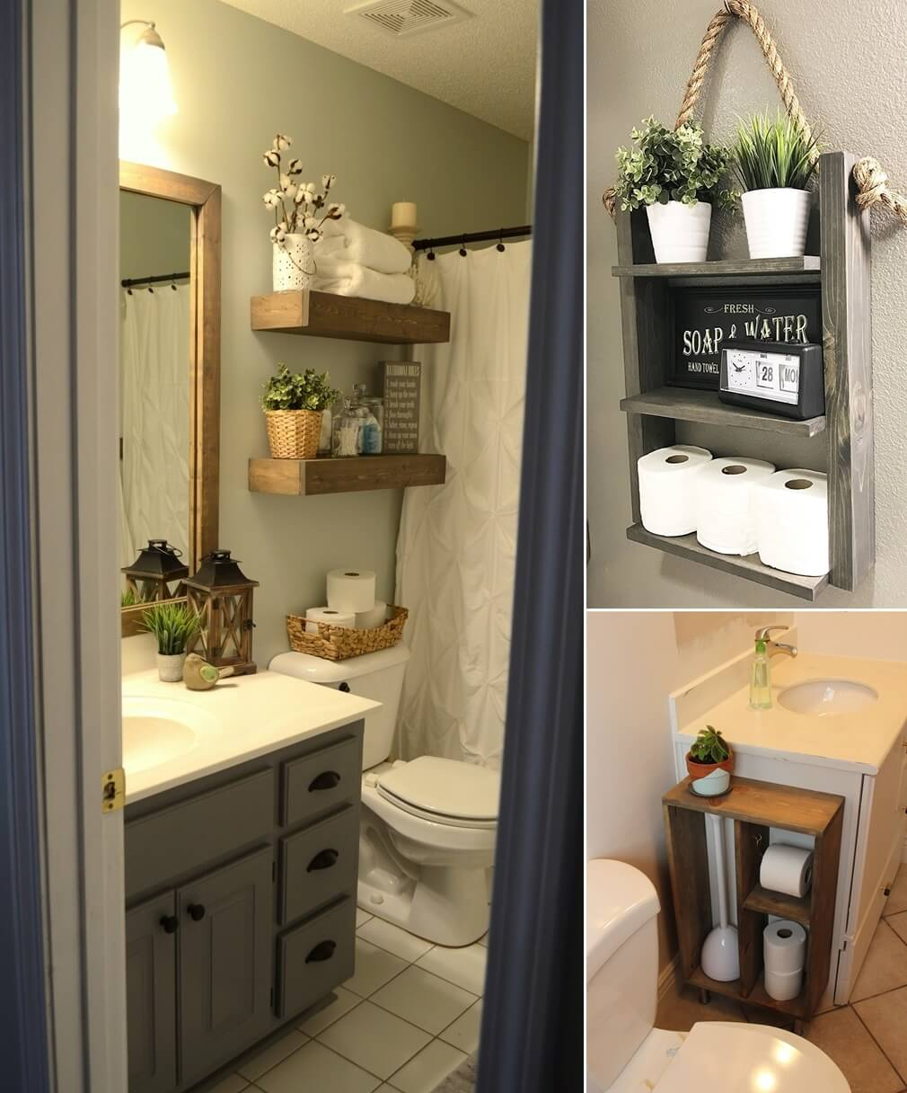 Simple Decorating Ideas To Make Your Room Look Amazing: 10 DIY Wood Projects For Your Bathroom