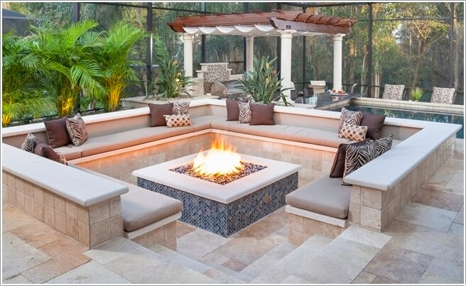 Exciting sunken outdoor seating images best inspiration for Sunken outdoor seating
