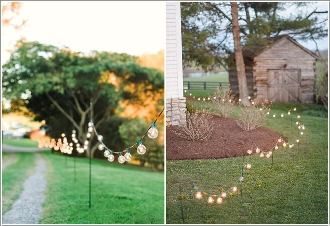 10 outdoor wedding walkway lighting ideas decorate with string lights and choose the kind that suits your wedding theme the most aloadofball Image collections