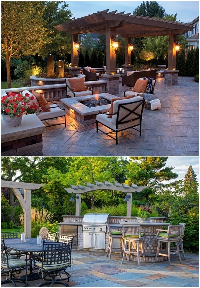 2. If You Want Something Unique Then Install Wall Sconces - 10 Wonderful Pergola Lighting Ideas