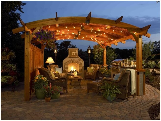 pergola lighting ideas. when in doubt about pergola lighting simply go for string lights as they can never wrong ideas i