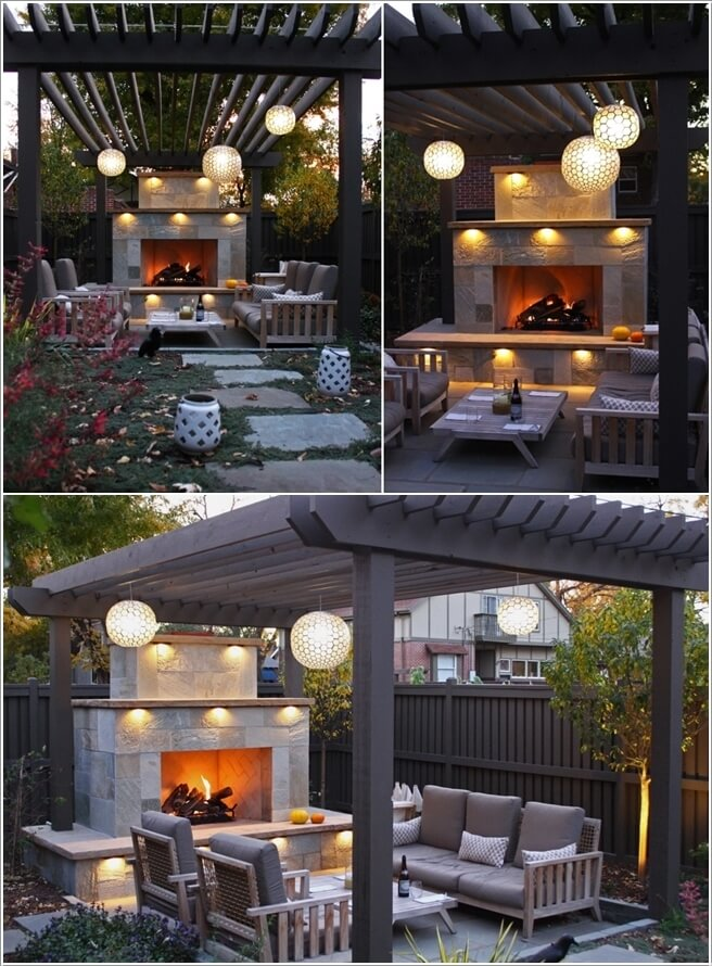 Adorn The Pergola with Globe Pendant Lights - 10 Wonderful Pergola Lighting Ideas
