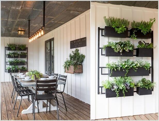 7 display a vertical garden