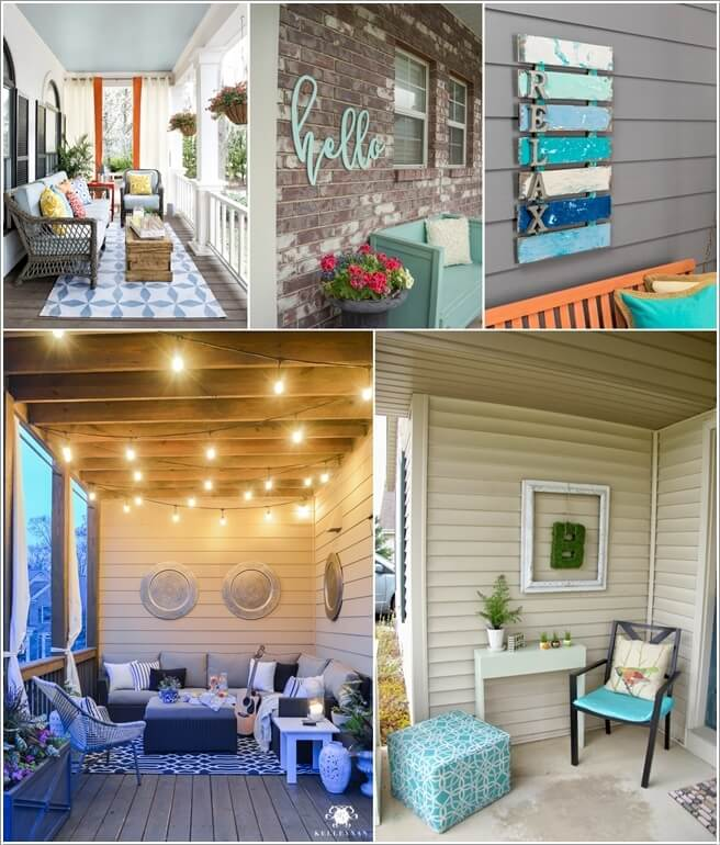 Cheap Ways To Decorate Patio: 15 Fabulous Ways To Decorate Your Porch Wall