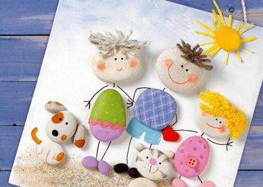 15 Super Cute Painted Stone Crafts fi
