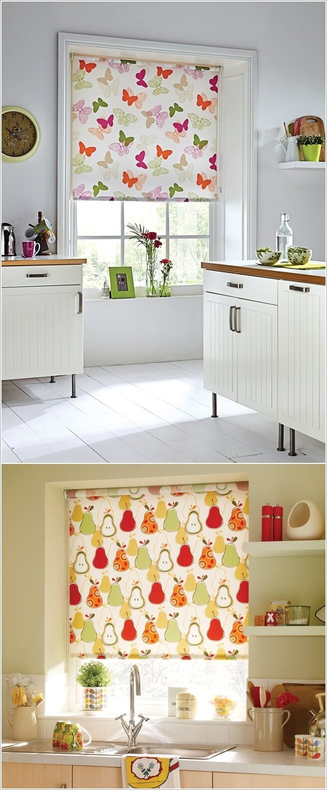 If You Want To Introduce Pattern To Your Kitchen Then Go For Printed Roll  Up Blinds Part 76