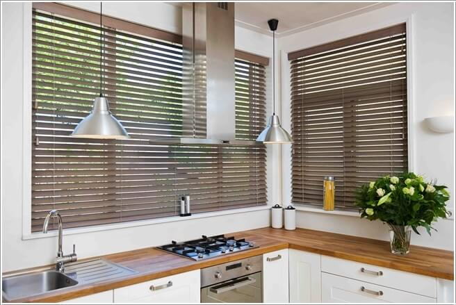 If You Want To Add Wooden Details To Your Kitchen Then Go For Wood Blinds Part 17
