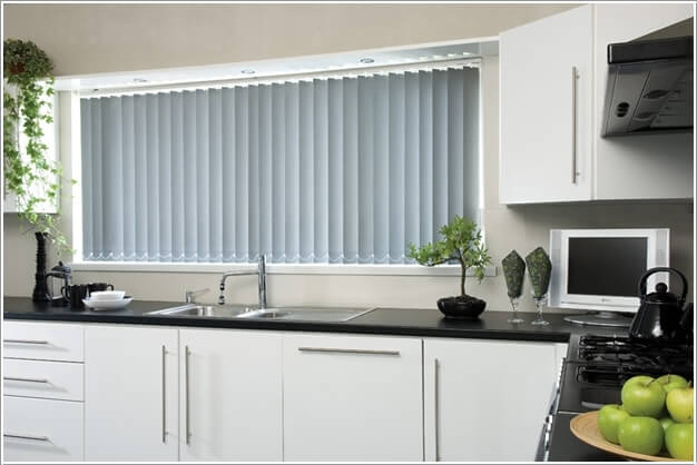 Bring Life To Your Kitchen With Vertical Colored Blinds Part 38