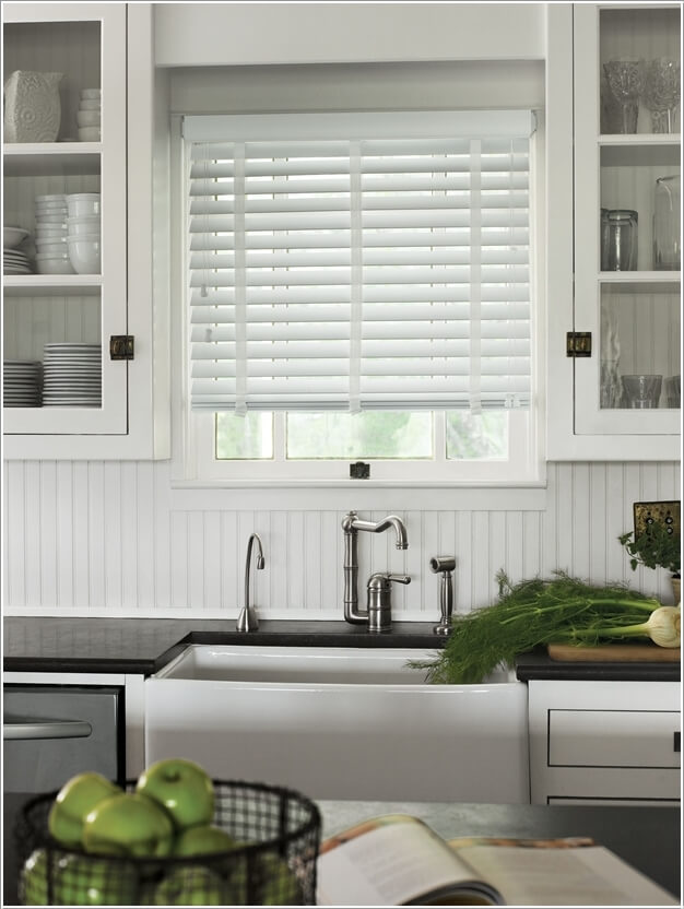9 Dress The Windows With White Shutter Blinds