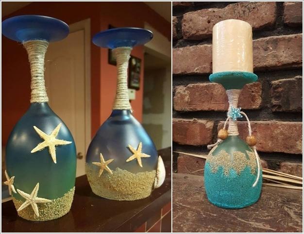10 Beautiful Beach Candle Holder Ideas