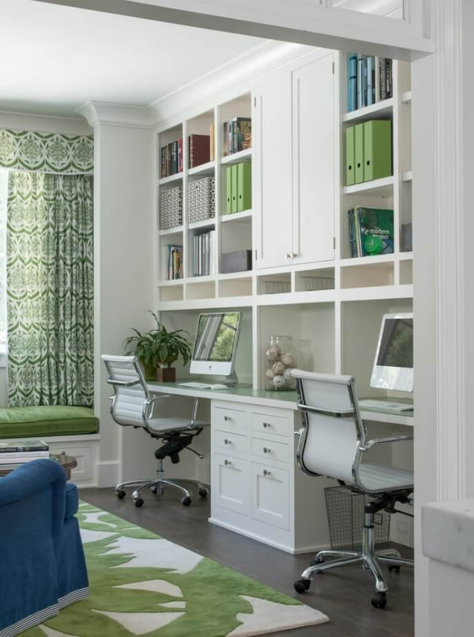 Creative two person home office ideas for Creative office ideas