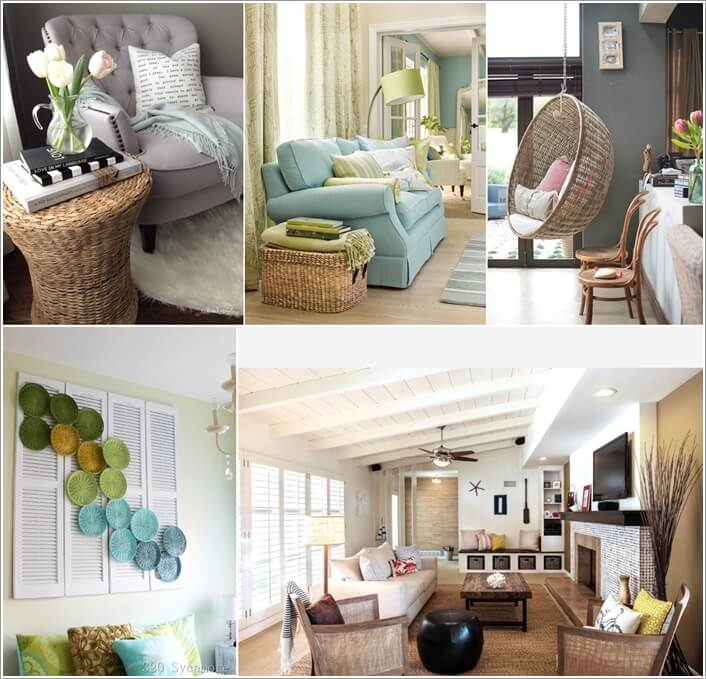 decorating your living room.  Decorate Your Living Room with Wicker