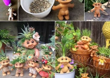 How Adorable Are These Troll Succulent Planters fi